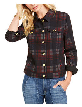 Plaid Trucker Jacket by General