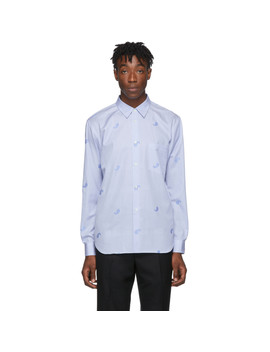 Blue & White Paisley Shirt by Comme Des GarÇons Homme Deux