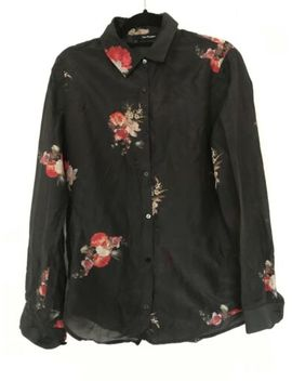 Kooples Silk Floral Shirt/Blouse Size 2 Grunge Rock Festival Uk 10 by Ebay Seller