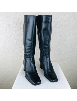 Naturalizer Black Leather Boot Size 6 M by Naturalizer