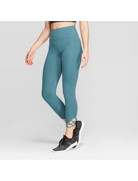 Women's High Waisted Comfort Strappy Crop Leggings   Joy Lab™ by Joy Lab