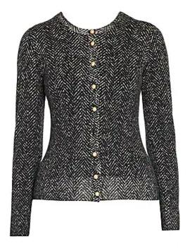 Herringbone Knit Wool Cardigan by Dolce & Gabbana
