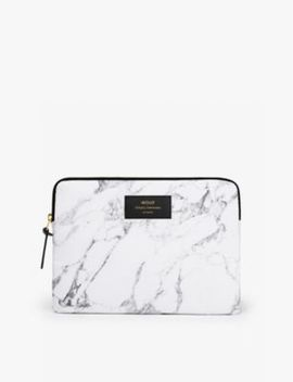 White Marble I Pad Case by Wouf
