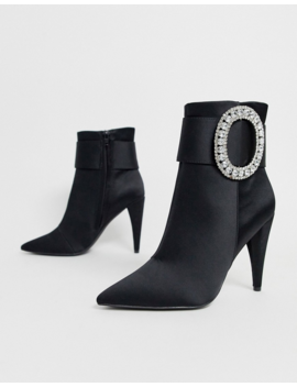 Asos Design Eclectic Diamante Buckle Boots by Asos Design