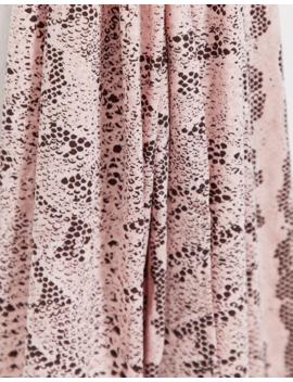 Asos Design Large Headscarf In Pink Snake Print by Asos Design