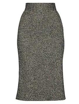 Virgin Wool Blend Midi Skirt by Dolce & Gabbana