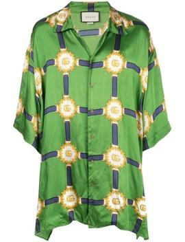 Gg Print Shirt by Gucci