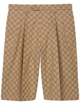 Gg Supreme Bermuda Shorts by Gucci