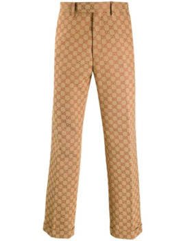 Gg Straight Leg Trousers by Gucci