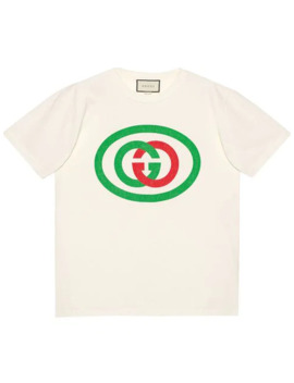 Oversized T Shirt With Gg Print by Gucci