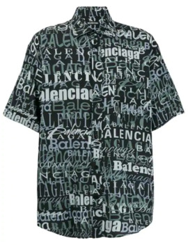 Logo Print Shirt by Balenciaga