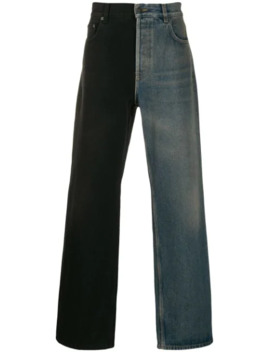Two Toned Flared Jeans by Balenciaga