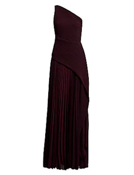 Emelyne One Shoulder Pleated Maxi Dress by Solace London