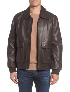 Lambskin Leather Aviator Jacket by Andrew Marc