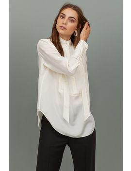 Silk Tuxedo Shirt by H&M