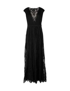 Mesh V Inset Lace Gown by Lauren Ralph Lauren