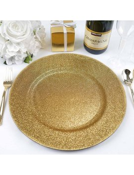 Balsa Circle 6 Pcs 13 Inch Glitter Round Charger Plates   Dinner Supplies Wedding For All Holidays Decorations by Balsa Circle
