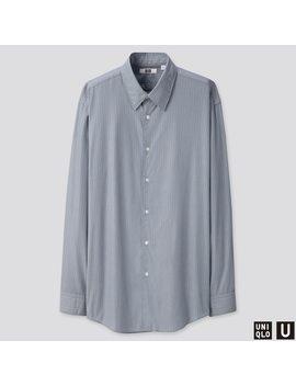 Men U Broadcloth Striped Shirt by Uniqlo