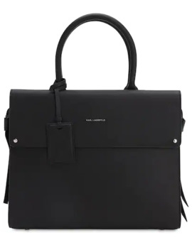 Ikon Leather Top Handle Bag by Karl Lagerfeld