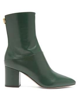 Ringstud Leather Ankle Boots by Valentino