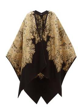 Paisley Brocade Wool Blend Shawl by Etro