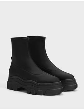 Highheel Track Sole Ankle Boots   Shoes   Women | Bershka by Bershka