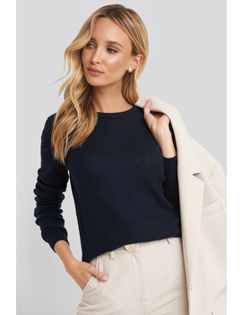 Pure Cashmere O Neck Pullover Blå by Sparkz