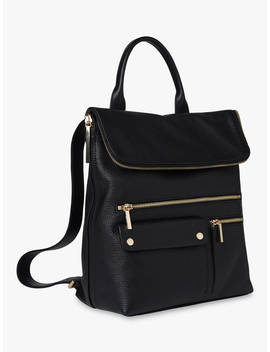 Whistles Farrow Leather Pocket Detail Backpack, Black by Whistles