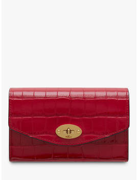 Mulberry Darley Croc Print Leather Medium Wallet, Red Berry by Mulberry