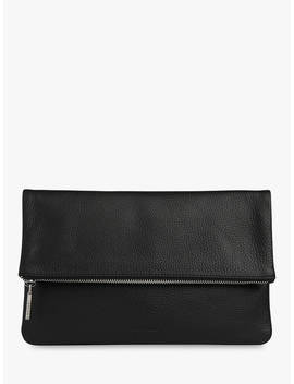 Whistles Chapel Foldover Clutch Bag, Black by Whistles