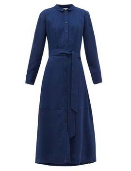 Belted Voile Shirtdress by Cefinn