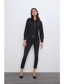 Denim Shirt With Pockets View All Denim Woman Cornershops by Zara