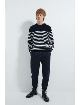 Striped Sweater With Buttons New Inman by Zara