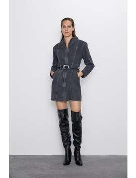 Denim Mini Dress Short Dresses Woman by Zara