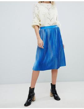 Soaked In Luxury Velvet Pleated Skirt by Asos