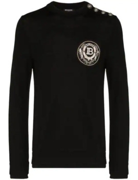 Badge Embroidered Jumper by Balmain