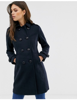 Fashion Union Smart Longline Double Breasted Coat by Fashion Union's