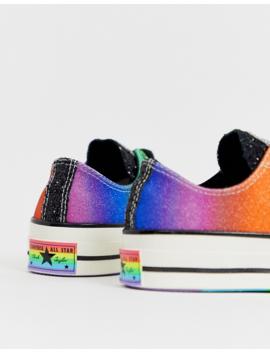 Converse Pride Chuck '70 Lo Rainbow Black Glitter Trainers by Converse