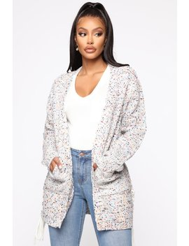 There's No Way Speckle Cardigan   Multi Color by Fashion Nova