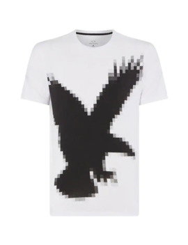 Pixelated Eagle Graphic T Shirt by Armani Exchange