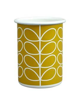 Dandelion Linear Stem Enamel Tumbler, 350ml by Orla Kiely