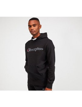 Linear Logo Overhead Hooded Top | Black by Champion