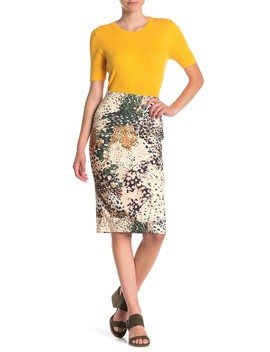 Printed Pencil Skirt by Eci