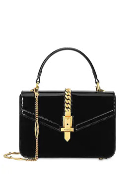 Mini Sylvie Patent Leather Bag by Gucci