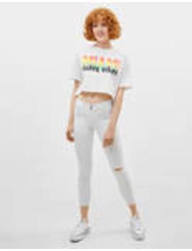 Push Up Jeans Met Middelhoge Taille by Bershka