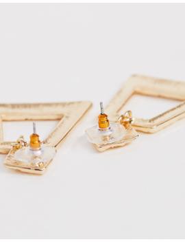 Asos Design – Goldfarbene Ohrringe Mit Strukturiertem Strass Und Anhänger by Asos