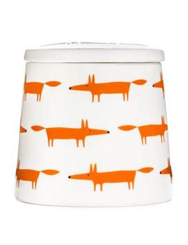 Orange Multi Mr Fox Large Storage Jar by Scion