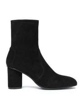 Stretch Suede Sock Boots by Stuart Weitzman
