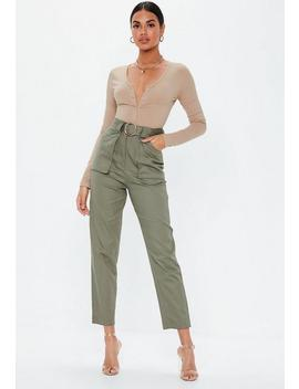 Body Beige à Manches Longues Et Petits Boutons by Missguided