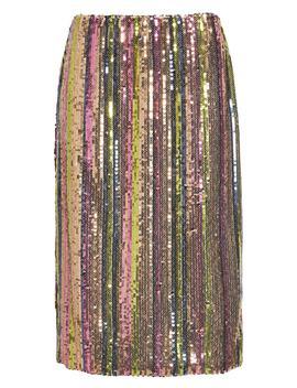 Rainbow Sequin Midi Skirt by Leith